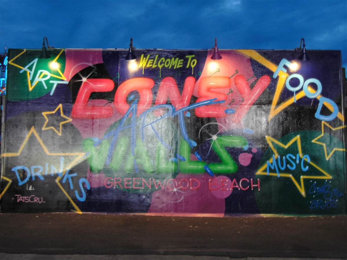 The Coney Art Walls Rendezvous At Night